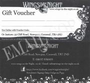 £10 Gift Voucher / Certificate | Wings in the Night Gifts